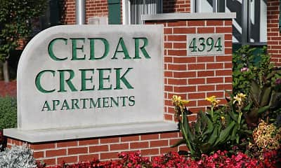 Community Signage, Cedar Creek Apartments, 1