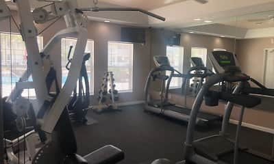 Fitness Weight Room, Harvard Apartments, 2