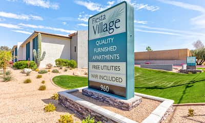 Community Signage, Fiesta Village Furnished Apartments, 2