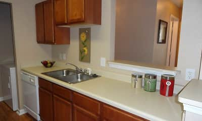 Kitchen, Village Crossing Apartments, 1