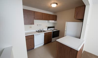 Kitchen, Delshire Apartments, 2