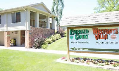 Community Signage, Emerald Court Apartments, 0