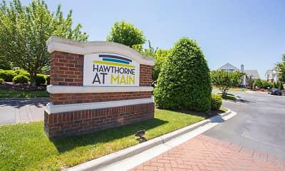 Community Signage, Hawthorne at Main, 1
