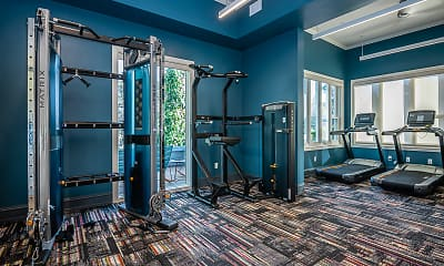 Fitness Weight Room, The Academy Palomar, 2