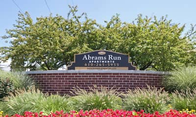 Community Signage, Abrams Run Apartment Homes, 2