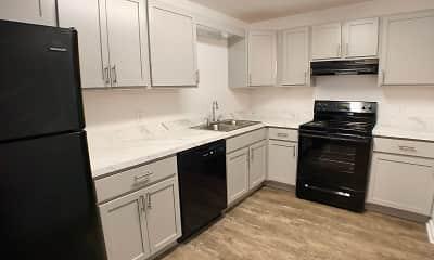 Kitchen, Knobs Pointe Apartments, 2