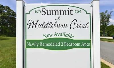 Community Signage, Middleboro Apartments, 2