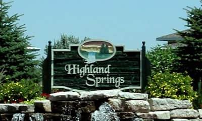Community Signage, Highland Springs Apartments, 1