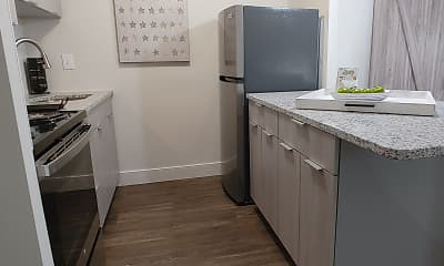 Kitchen, Center Square Apartments, 1