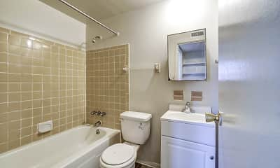 Bathroom, Northern Village Apartment and Townhomes, 2