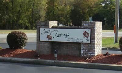 Community Signage, Sycamore Springs Apartments, 2