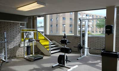 Fitness Weight Room, Randall Park, 1
