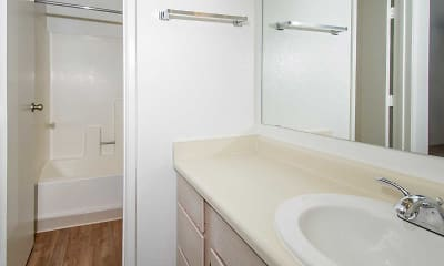 Bathroom, Butterfield Apartments, 2