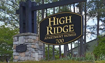 Community Signage, High Ridge Apartments, 2