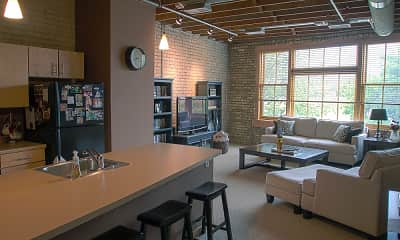 Living Room, Lofts on Roberts-Downtown Fargo, 1