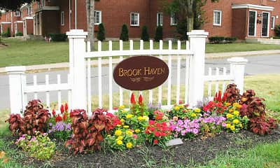 Community Signage, Brook Haven Apartments, 0