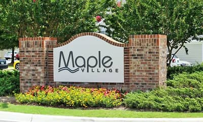 Community Signage, Maple Village, 1