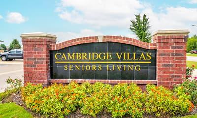 Community Signage, Cambridge Villas Senior Housing, 2