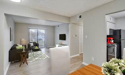 Living Room, English Village Apartments, 2