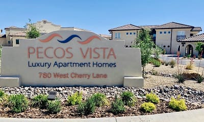 Community Signage, Pecos Vista Apartments, 0