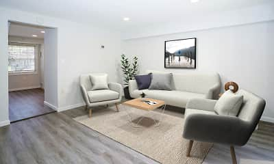 Living Room, Dutch Village Townhomes & Apartments, 1