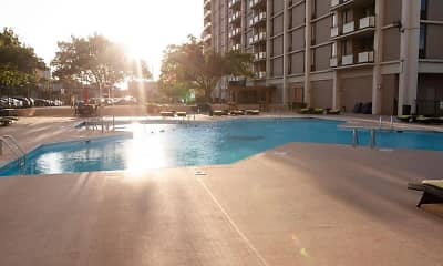 Pool, Three Rivers Luxury Apartments, 1