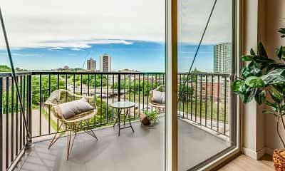 Patio / Deck, Nico Apartments, 0