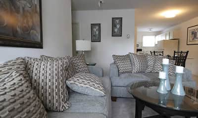 Living Room, University Park Apartments, 1