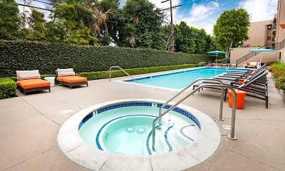 Pool, Burbank Garden Apartments, 0