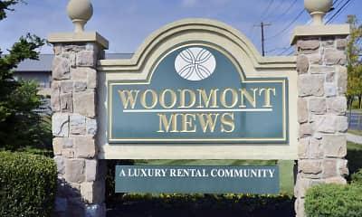 Community Signage, Woodmont Mews, 1