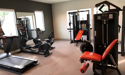 Fitness Weight Room, Mesa West Apartments, 2