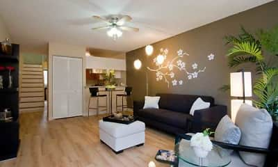 Living Room, Waena Apartments, 1