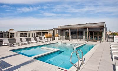 Pool, 1400 Russell Luxury Apartments, 0