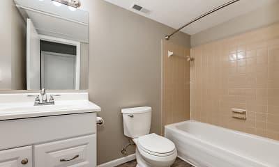 Bathroom, Tudor Arms Apartments, 2