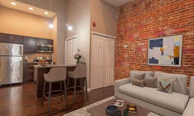 Living Room, University Place Apartments, 0