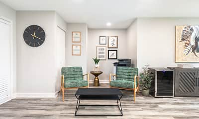 Living Room, Whispering Oaks Apartments, 1