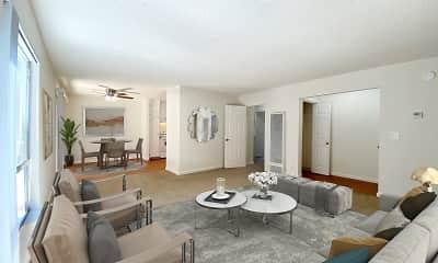 Living Room, Cedartree Apartments, 2