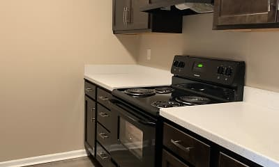 Kitchen, Big Red Apartments, 1