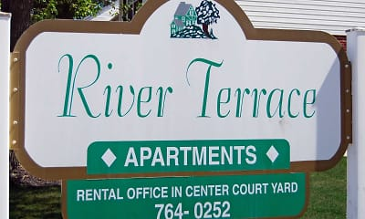 Community Signage, River Terrace Apartments, 0