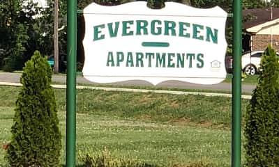 Community Signage, Evergreen Apartments, 2