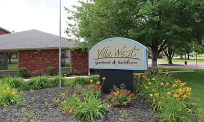 Community Signage, Villa West Apartments, 0