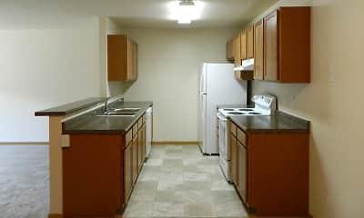 Kitchen, Sun West I & II Apartment Homes, 2