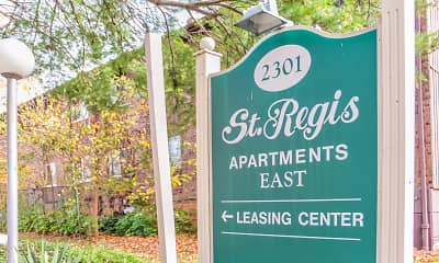Community Signage, St. Regis Apartments, 2