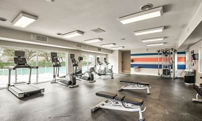 Fitness Weight Room, Maple Bay Townhomes, 1