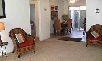 Living Room, Riverglen Apartments, 1