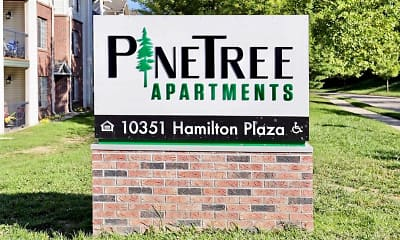 Community Signage, Pine Tree Apartments, 2