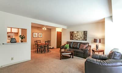 Living Room, Bay Club Apartments, 1