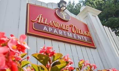 Community Signage, Allandale Village Apartments, 0