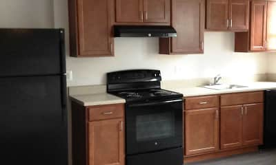 Kitchen, Milestone Apartments, 2