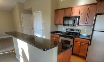 Kitchen, Hickory Grove Apartments, 1